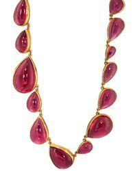 Judy Geib - Pink Tourmaline Riviere Necklace - Lyst