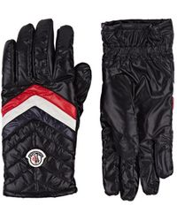 Moncler - Logo Quilted Gloves - Lyst