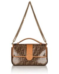 Fendi - double F Coated Canvas & Leather Shoulder Bag - Lyst