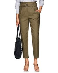 A.L.C. - Linen-blend Tapered Belted Trousers - Lyst