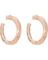 Pamela Love Wavy Hoop Earrings