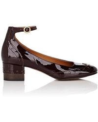 Chloé Perry Patent Leather Mary Jane Pumps - Brown