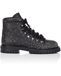 Valentino - Rockstud Quilted Leather Combat Boots - Lyst