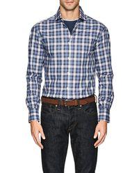 Brunello Cucinelli   Plaid Cotton Poplin Shirt   Lyst