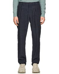 Acne Studios - Boston Checked Linen Trousers - Lyst