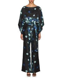 Warm - Layla Floral Silk Belted Jumpsuit - Lyst