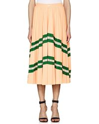 Valentino - Lace-inset Pleated Midi - Lyst