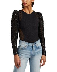 Opening Ceremony - Sequined Jacquard-knit & Tulle Bodysuit - Lyst