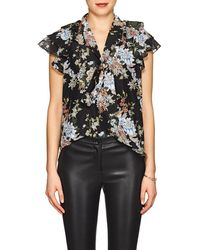 f530236f3215f Lyst - Red Valentino Silk Crepe De Chine Off The Shoulder Blouse in ...