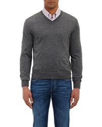 Brunello Cucinelli - Tipped V-Neck Sweater - Lyst
