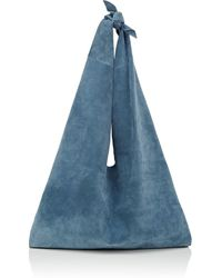 The Row - Bindle Suede Shoulder Bag - Lyst