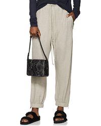 Rick Owens - Textured-knit Drawstring Track Trousers - Lyst