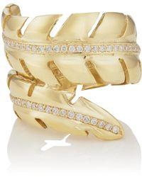 Jennifer Meyer - Diamond Leaf Wrap Ring Size 6.5 - Lyst