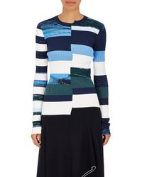 Opening Ceremony - Striped Knit Fitted Top - Lyst