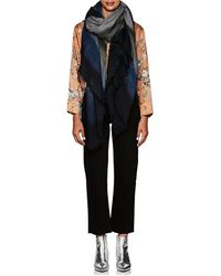 Barneys New York - Gradient Houndstooth Cashmere-silk Stole - Lyst