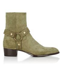 Saint Laurent - Wyatt Suede Boots - Lyst