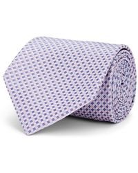 Brioni - Mini-square-grid Silk Satin Necktie - Lyst