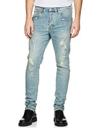 Purple - P002 Distressed Skinny Jeans - Lyst