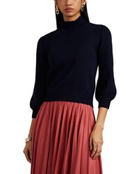 Co. - Merino Wool Ruffled Mock-turtleneck Crop Jumper - Lyst