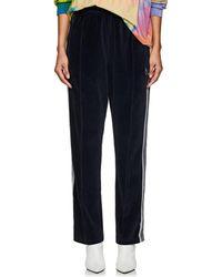 Needles - Striped Cotton-blend Velour Track Pants - Lyst