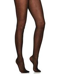 Valentino - Crystal-studded Tights - Lyst