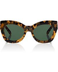 d54a75b8f08 Lyst - Karen Walker Northern Lights Cat-eye Acetate Sunglasses in Black
