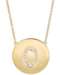 Jennifer Meyer | Initial Pendant Necklace | Lyst
