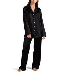 Sleeper - Silk Satin Pyjama Set - Lyst