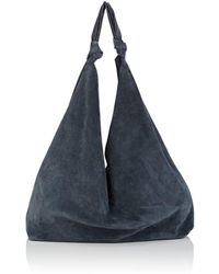 The Row - Bindle Double-knot Suede Shoulder Bag - Lyst