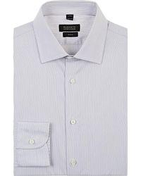 Barneys New York - Striped Cotton Poplin Dress Shirt - Lyst