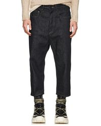 Rick Owens Drkshdw - Collapse-cut Denim Shorts - Lyst