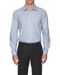 Luciano Barbera - Checked Cotton Poplin Shirt - Lyst