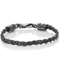 Emanuele Bicocchi - Braided Foxtail Chain Bracelet - Lyst