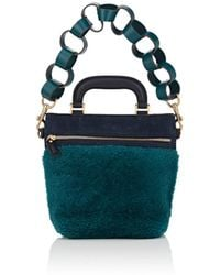 Anya Hindmarch Orsett Mini Shearling & Suede Shoulder Bag