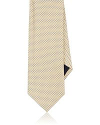 Barneys New York - Mini-rectangle-&-dot Silk Jacquard Necktie - Lyst