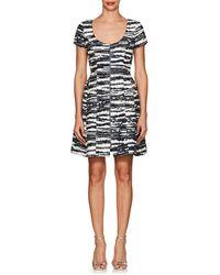 Prabal Gurung - Metallic-striped Cotton-blend Flared Dress - Lyst