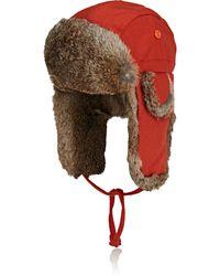 Crown Cap - Fur-trimmed Wool-blend Trapper Hat - Lyst