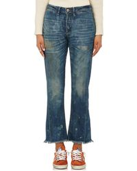 NSF - Aero Distressed Crop Flared Jeans - Lyst