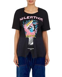 Stella McCartney | Graphic Jersey Notched T | Lyst