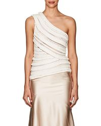 Narciso Rodriguez - Knit Silk-blend One-shoulder Top - Lyst