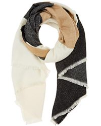 Barneys New York - Colorblocked Blanket Scarf - Lyst