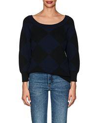 Nina Ricci - Diamond-pattern Cotton-wool Sweater - Lyst
