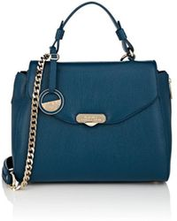 Versace Small Leather Shoulder Bag in Blue - Lyst 7d579f2e2f
