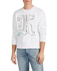 Christopher Kane - Logo-embroidered Cotton Sweatshirt - Lyst