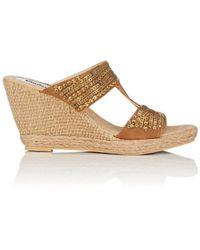 OndadeMar - Embroidered Espadrille Platform-wedge Sandals - Lyst