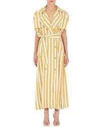 Maison Margiela - Striped Twill Maxi Dress - Lyst