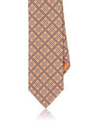 Brioni - Plaid Silk Necktie - Lyst