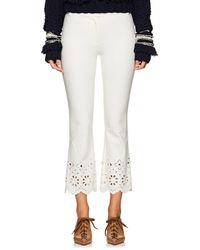 10 Crosby Derek Lam - Eyelet-detailed Stretch-cotton Crop Pants - Lyst