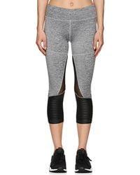 Electric Yoga - Cotton-blend Crop Biker Leggings - Lyst