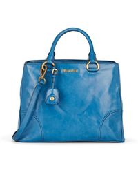 Miu Miu Leather Shoulder Tote Bag